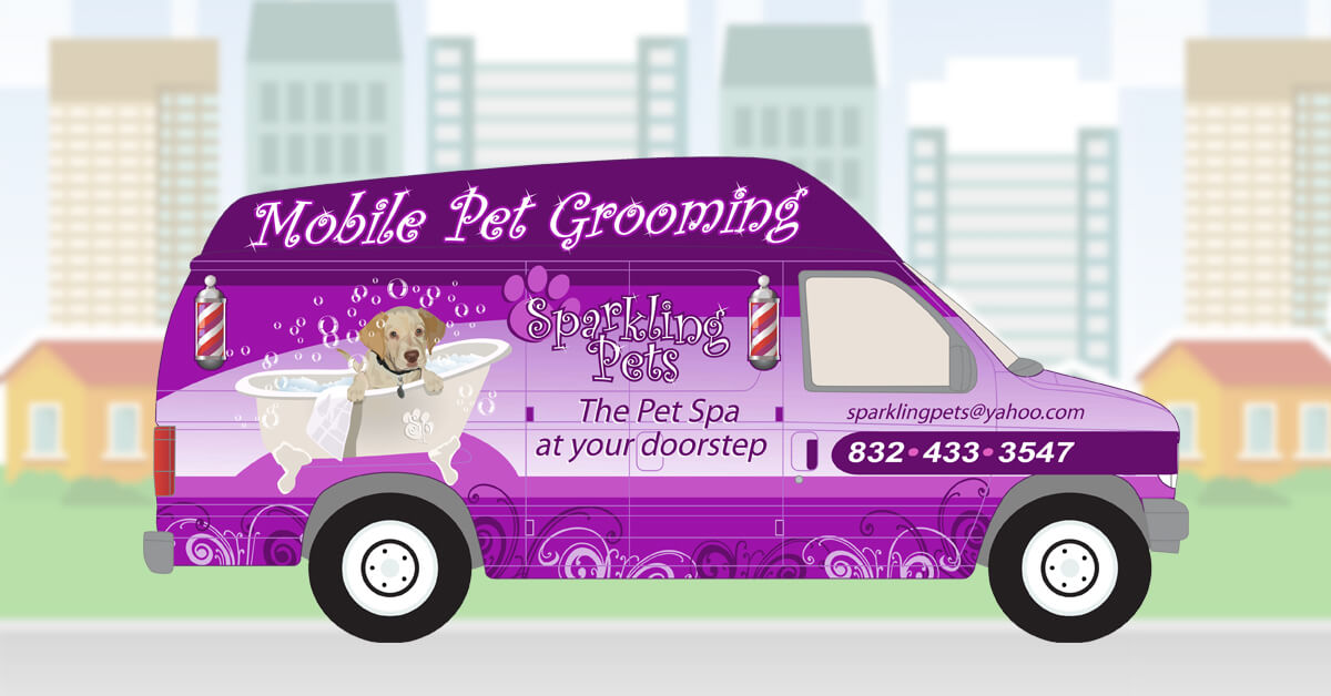 Fabulous Sparkling Pets Mobile Pet Spa Dog Grooming Beutiful Home Inspiration Xortanetmahrainfo